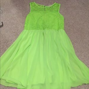 Other - Neon green dress